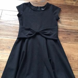 Girls dress with front bow